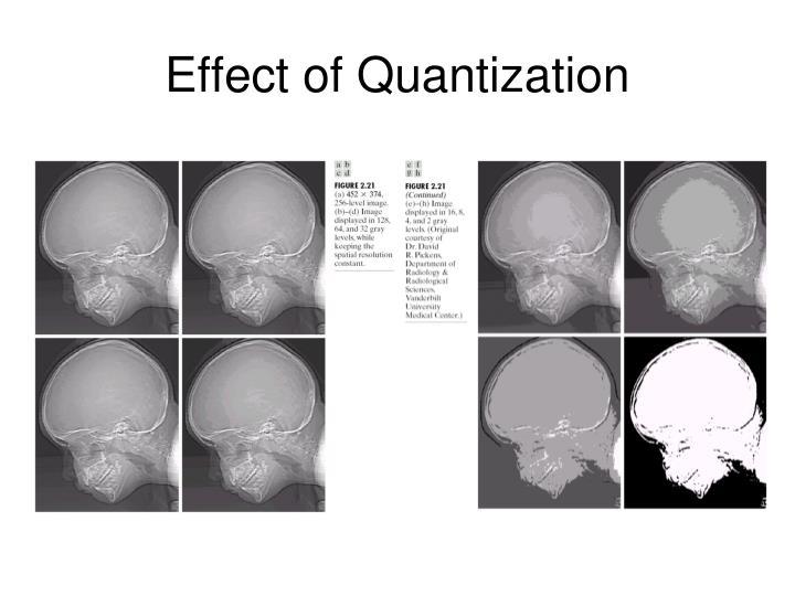Effect of Quantization