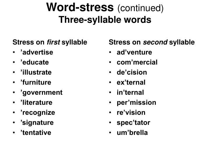 Stress on