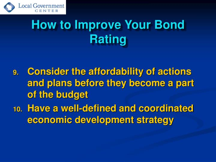 How to Improve Your Bond Rating
