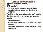 cannula selection cont d3