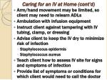 caring for an iv at home cont d