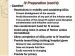 iv preparation cont d1