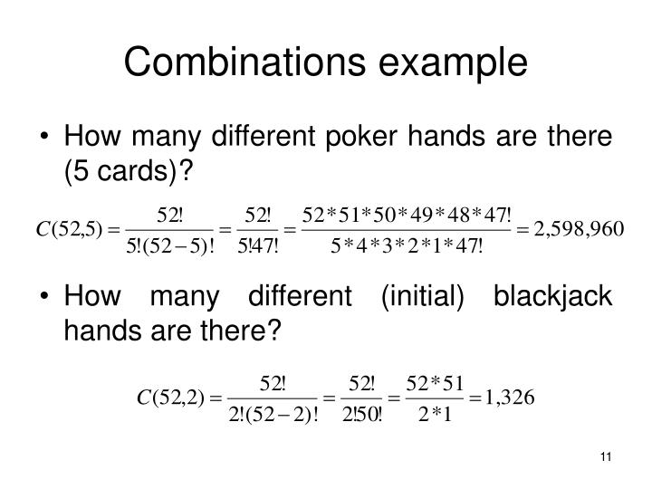 Combinations example