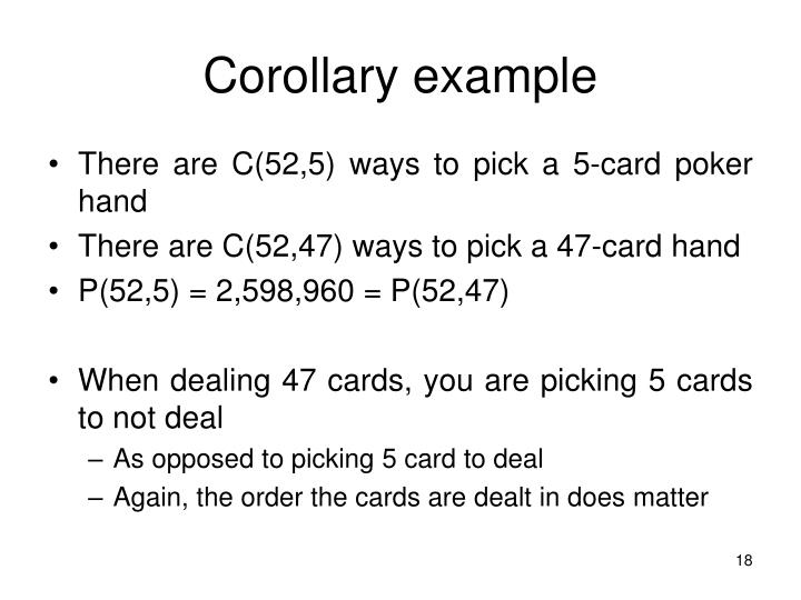 Corollary example