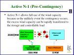 active n 1 pre contingency