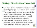 making a more resilient power grid