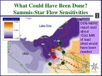 what could have been done sammis star flow sensitivities