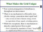 what makes the grid unique