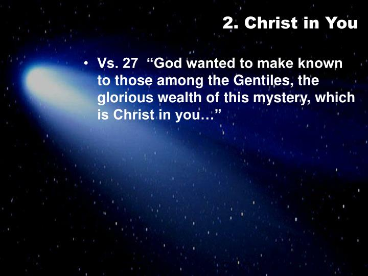 2. Christ in You