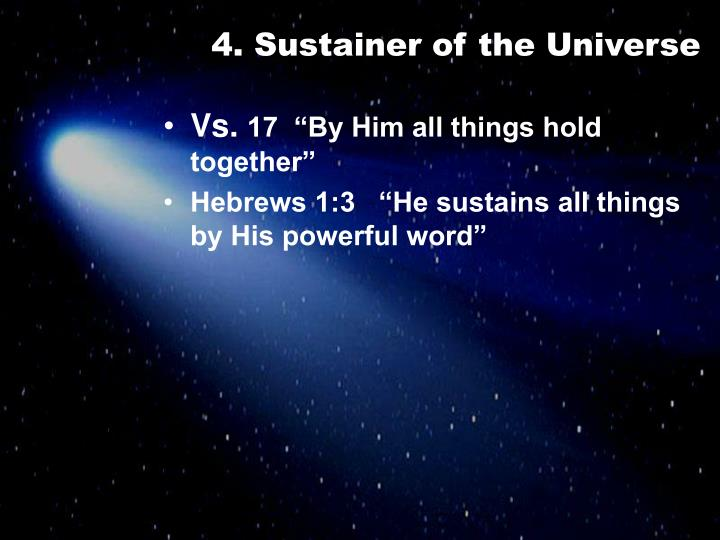 4. Sustainer of the Universe
