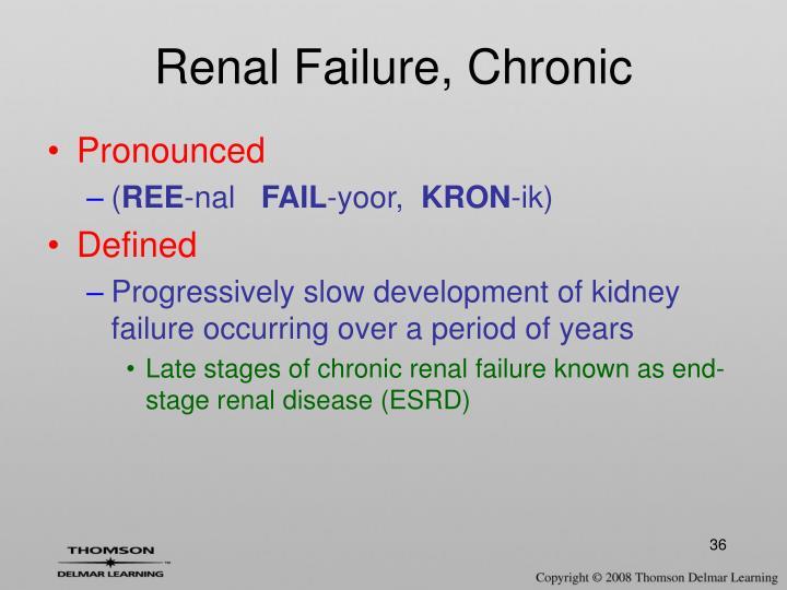 Renal Failure, Chronic