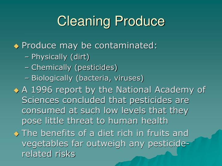 Cleaning Produce