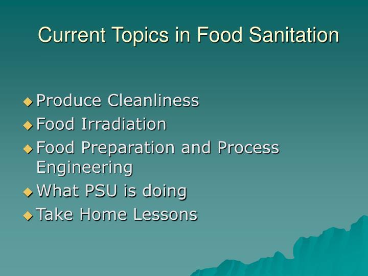 Current Topics in Food Sanitation