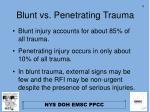 blunt vs penetrating trauma