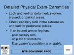 detailed physical exam extremities