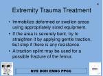 extremity trauma treatment