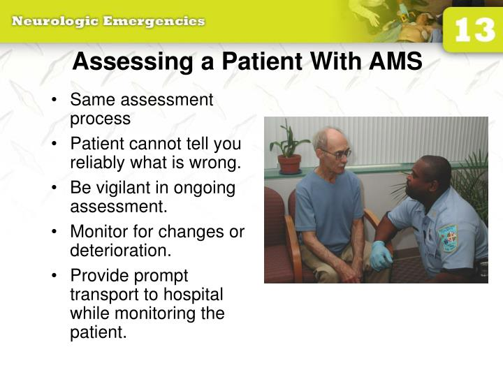 Assessing a Patient With AMS