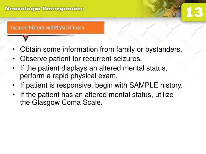 Focused History and Physical Exam