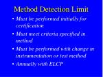 method detection limit1