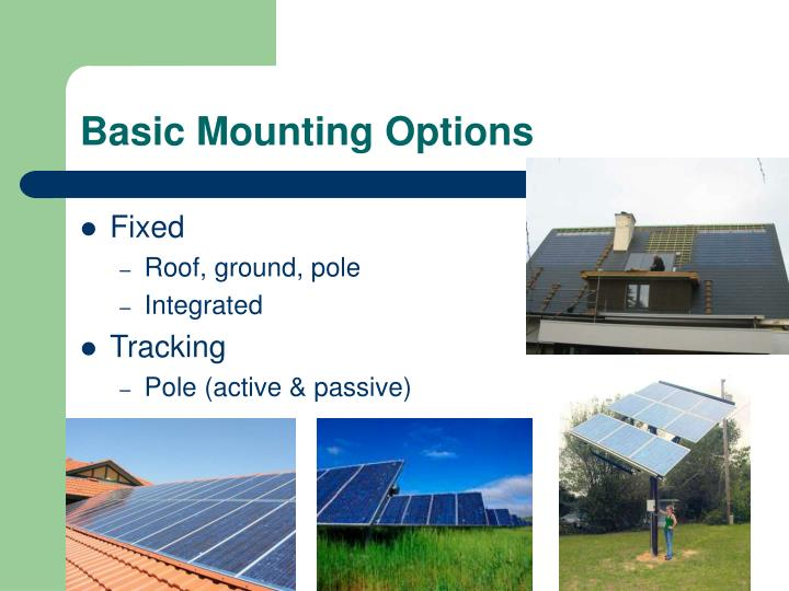 Basic Mounting Options