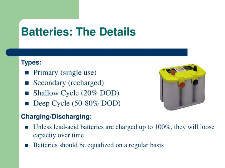 Batteries: The Details