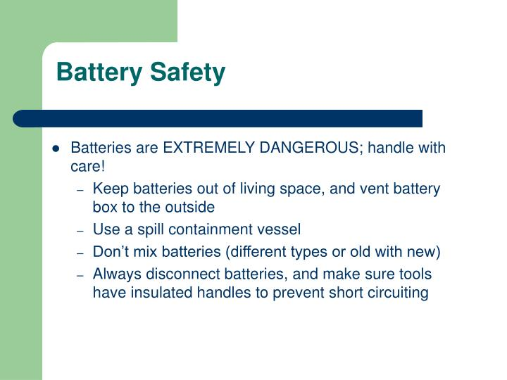Battery Safety