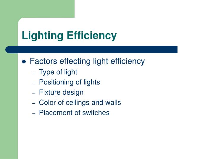 Lighting Efficiency