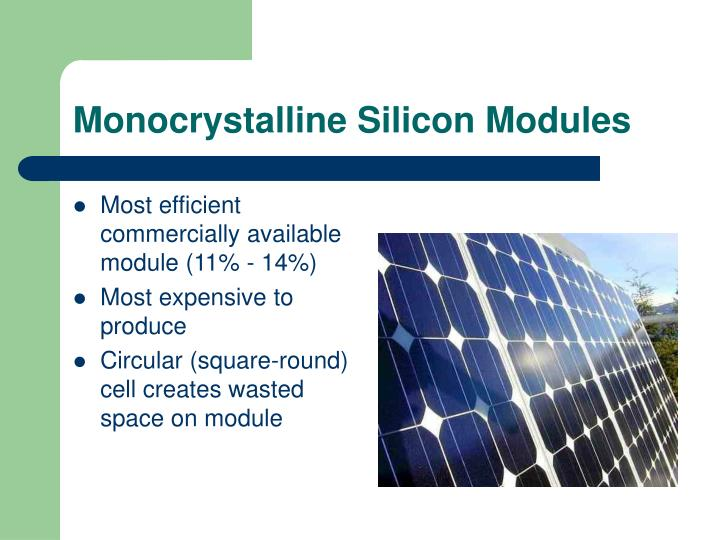 Monocrystalline Silicon Modules