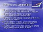 tendons and tendonitis