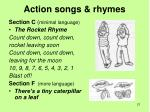 action songs rhymes