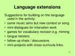 language extensions
