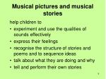 musical pictures and musical stories