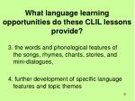 what language learning opportunities do these clil lessons provide1