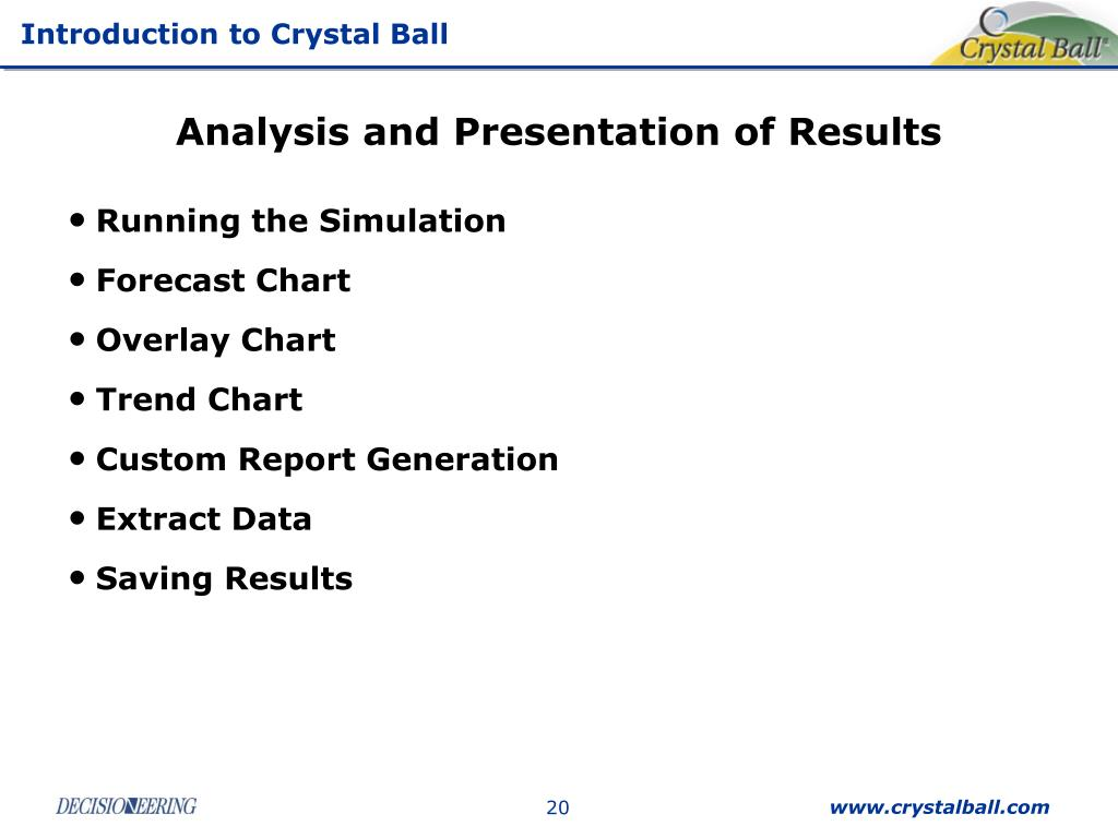 Analysis and Presentation of Results