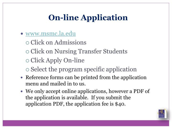 On-line Application