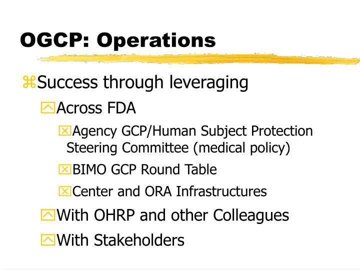 OGCP: Operations