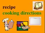 recipe cooking directions