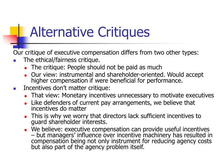 Alternative Critiques