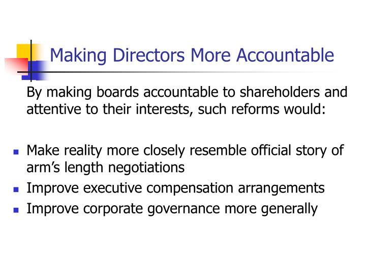 Making Directors More Accountable