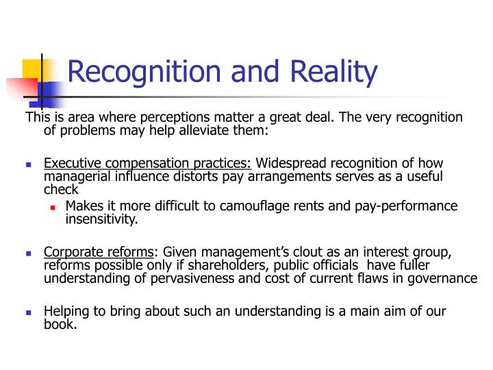 Recognition and Reality