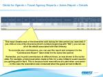 orbitz for agents travel agency reports sales report details