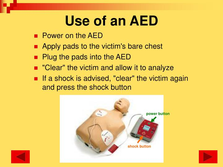 Use of an AED