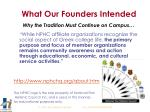 what our founders intended why the tradition must continue on campus