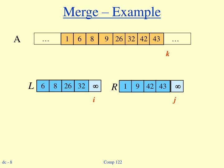 Merge – Example