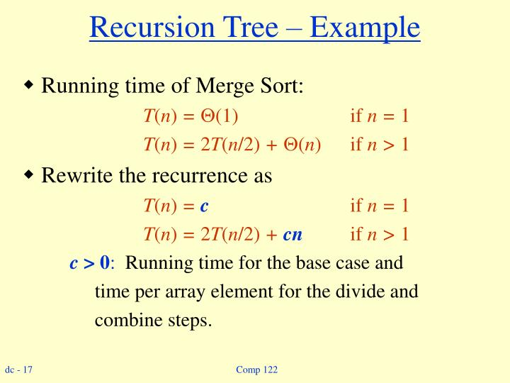 Recursion Tree – Example