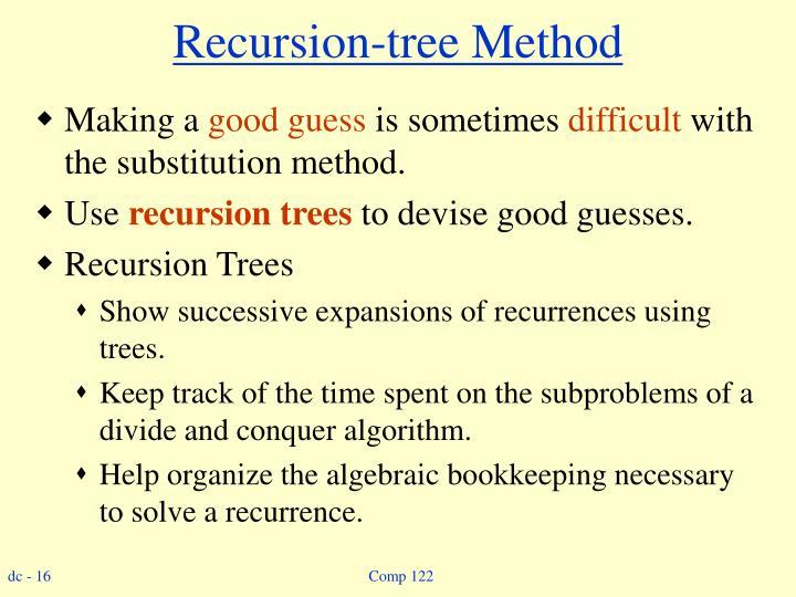 Recursion-tree Method