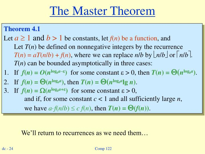 The Master Theorem