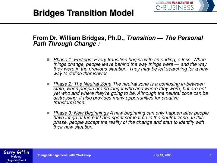 Bridges Transition Model