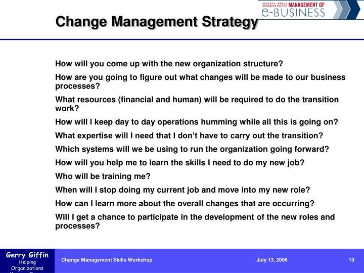 Change Management Strategy