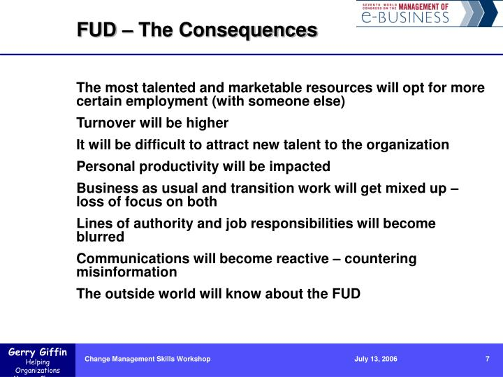 FUD – The Consequences